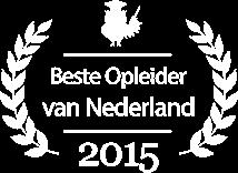 Beste Opleider van Nederland 2015