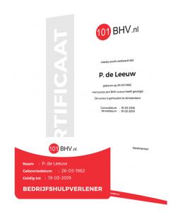 BHV certificaat