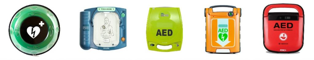 verschillende AED's